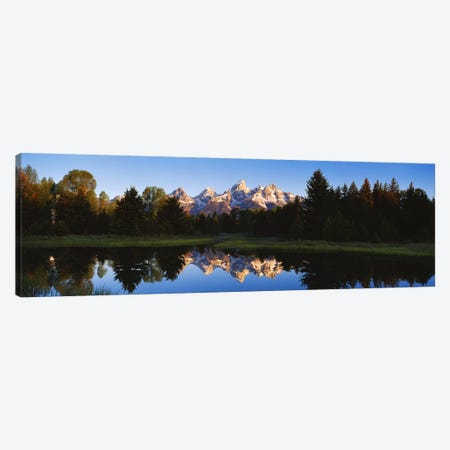 Beaver Pond Grand Teton National Park WY Canvas Print #PIM2835} by Panoramic Images Canvas Art Print
