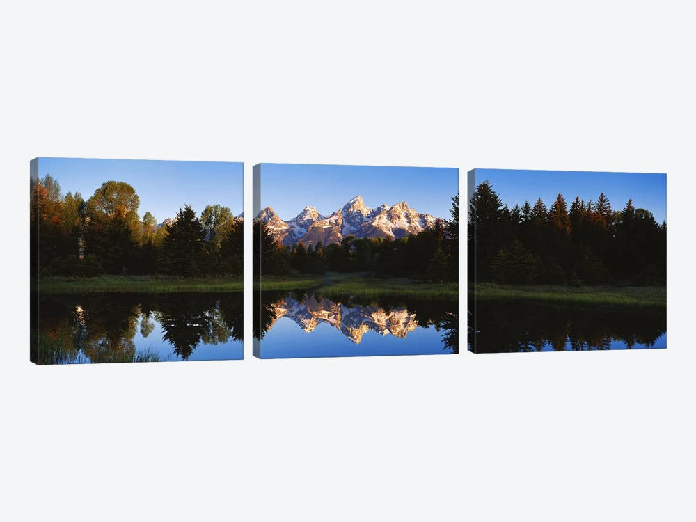 Beaver Pond Grand Teton National Park WY by Panoramic Images 3-piece Canvas Print