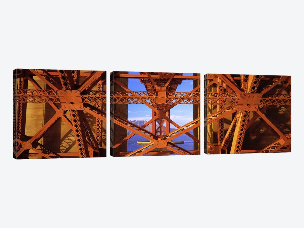 Golden Gate Bridge, San Francisco, California, USA #4 by Panoramic Images 3-piece Canvas Wall Art