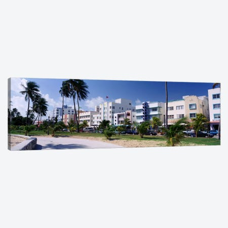 Ocean Drive, South Beach, Miami Beach, Florida, USA Canvas Print #PIM283} by Panoramic Images Canvas Artwork