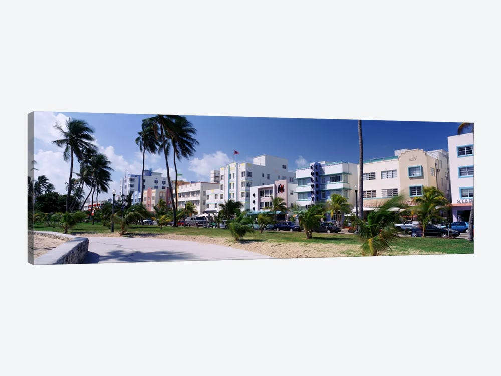 Ocean Drive, South Beach, Miami Beach, Florida, USA by Panoramic Images 1-piece Canvas Wall Art