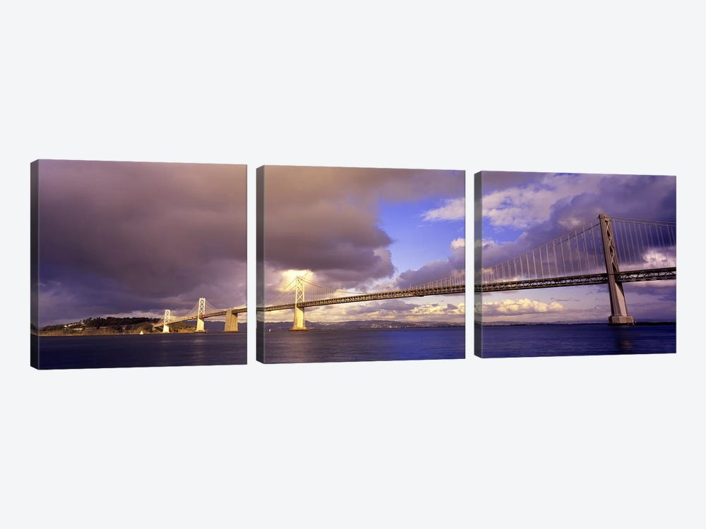 Oakland Bay Bridge San Francisco California USA by Panoramic Images 3-piece Canvas Artwork