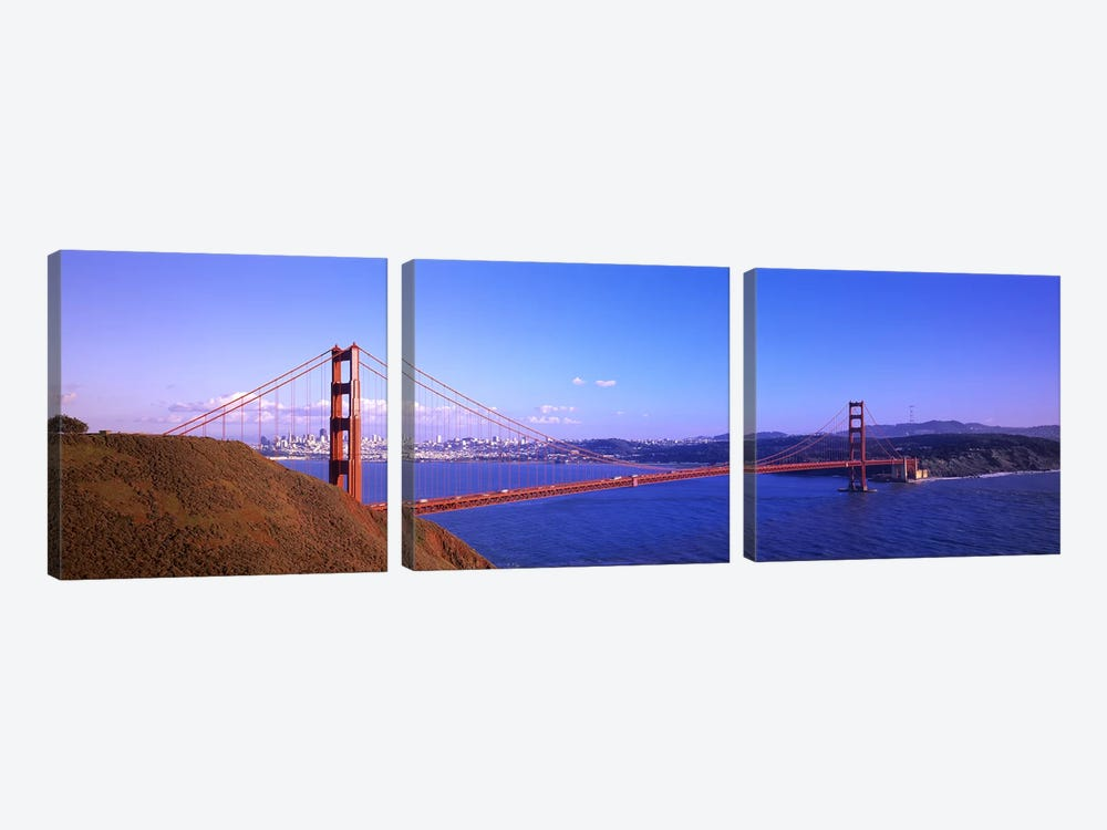 Golden Gate Bridge San Francisco CA USA by Panoramic Images 3-piece Canvas Print