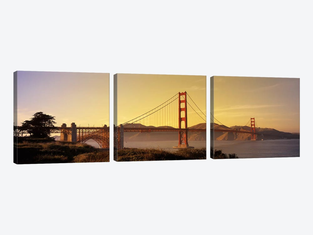 Golden Gate Bridge San Francisco CA USA by Panoramic Images 3-piece Canvas Wall Art