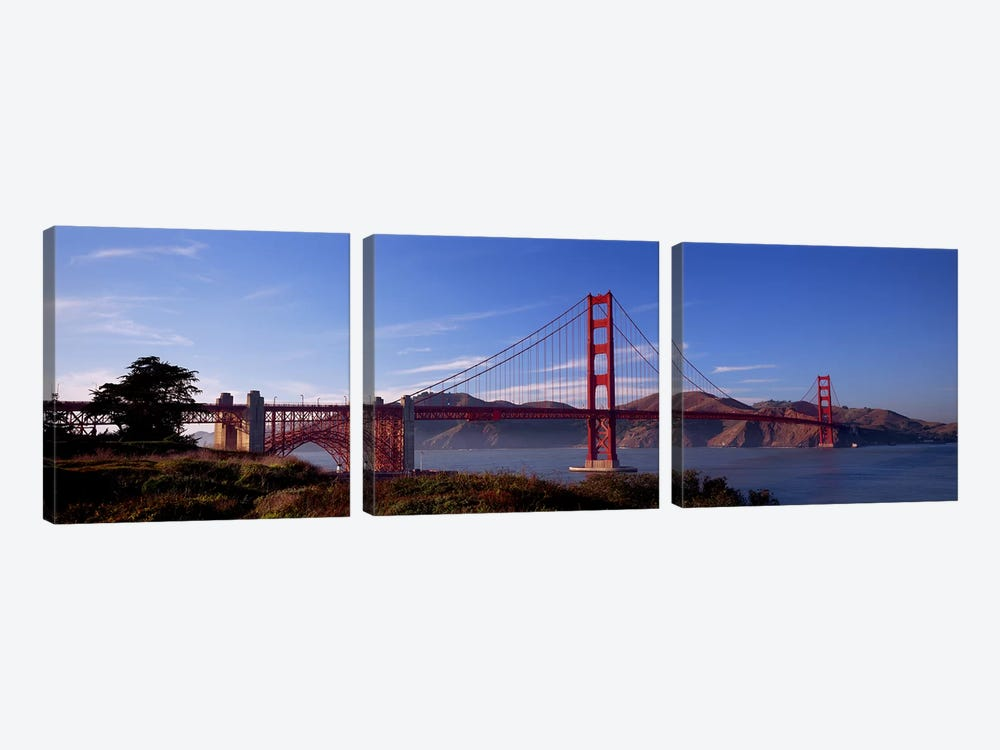 Golden Gate Bridge San Francisco California USA by Panoramic Images 3-piece Canvas Print