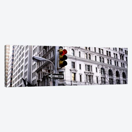Traffic Light, Wall Street, New York City, New York, USA Canvas Print #PIM2850} by Panoramic Images Canvas Art
