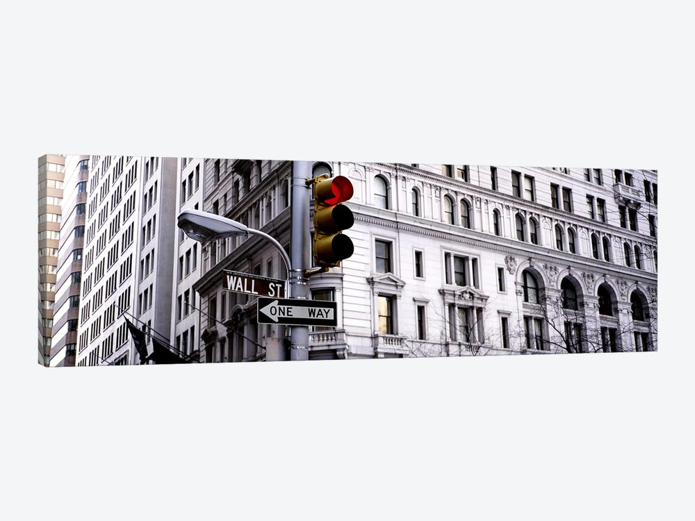 Traffic Light, Wall Street, New York City, New York, USA by Panoramic Images 1-piece Canvas Artwork