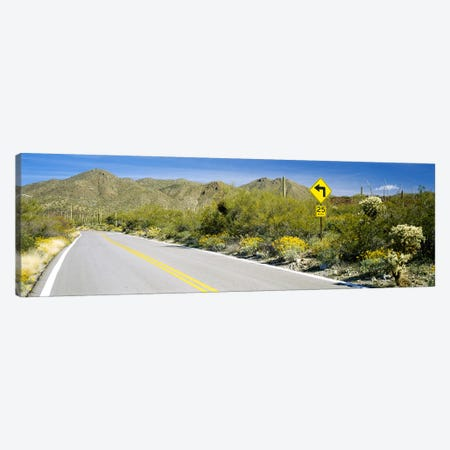 Directional signboard at the roadsideMcCain Loop Road, Tucson Mountain Park, Tucson, Arizona, USA Canvas Print #PIM2853} by Panoramic Images Canvas Wall Art