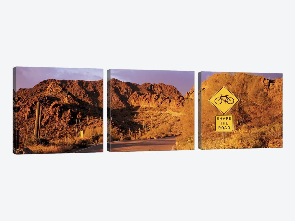Gates Pass Road Tucson Mountain Park Arizona USA by Panoramic Images 3-piece Canvas Wall Art