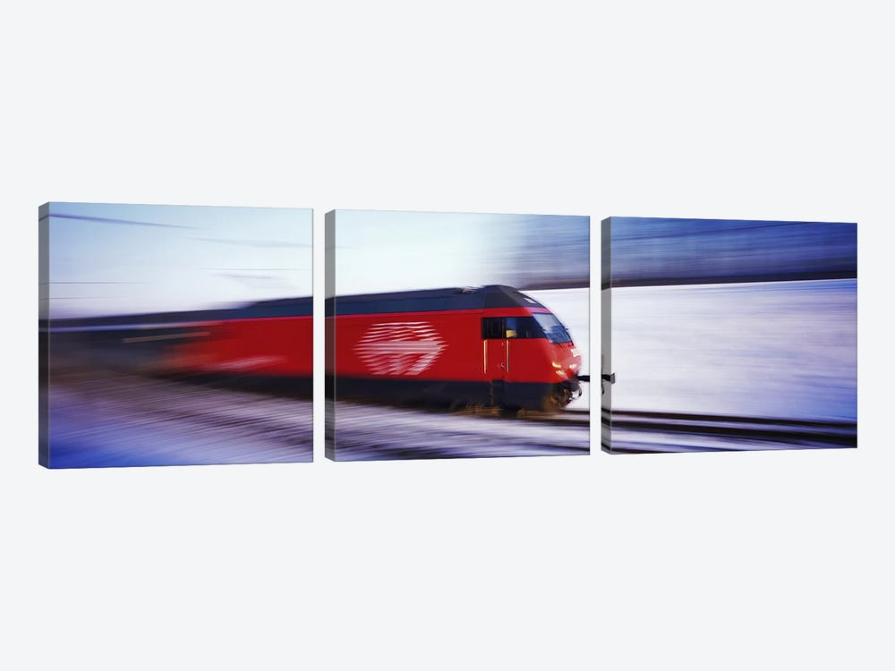 SBB Train Switzerland by Panoramic Images 3-piece Canvas Art Print