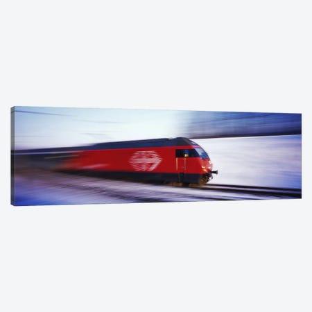 SBB Train Switzerland Canvas Print #PIM2857} by Panoramic Images Art Print
