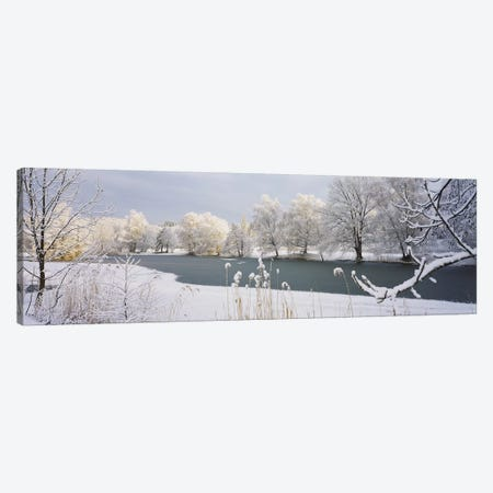 Lake Schubelweiher Kusnacht Switzerland Canvas Print #PIM2858} by Panoramic Images Canvas Art