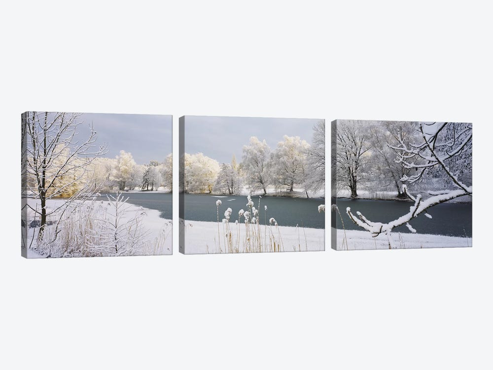 Lake Schubelweiher Kusnacht Switzerland 3-piece Canvas Wall Art