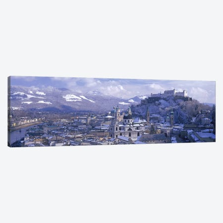 Winter Landscape Featuring Altstadt (Old Town), Salzburg, Austria Canvas Print #PIM2859} by Panoramic Images Canvas Art