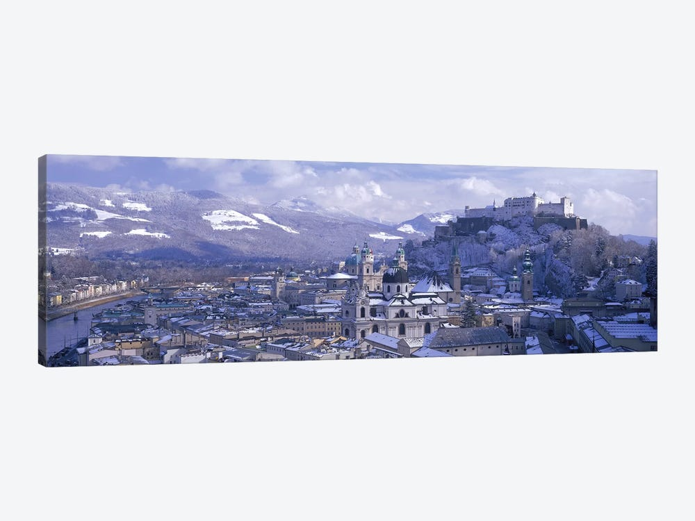 Winter Landscape Featuring Altstadt (Old Town), Salzburg, Austria by Panoramic Images 1-piece Canvas Art Print