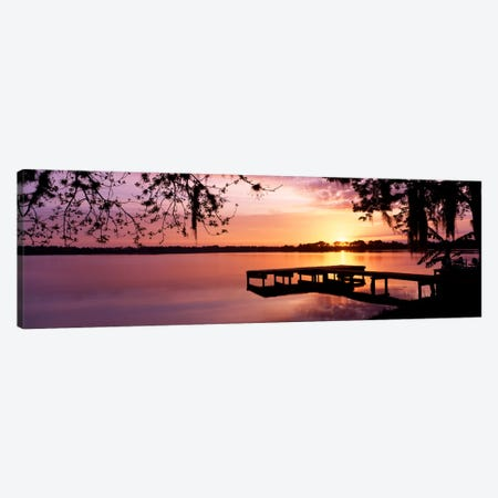 USA, Florida, Orlando, Koa Campground, Lake Whippoorwill, Sunrise Canvas Print #PIM285} by Panoramic Images Canvas Art Print