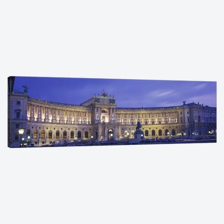 Main Façade At Night, Hofburg (Imperial Palace), Vienna, Austria Canvas Print #PIM2860} by Panoramic Images Art Print