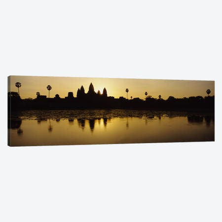 Silhouette of A Temple At SunriseAngkor Wat, Cambodia Canvas Print #PIM2861} by Panoramic Images Canvas Art Print