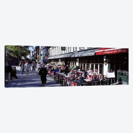 Street Scene Paris France Canvas Print #PIM2862} by Panoramic Images Canvas Art Print