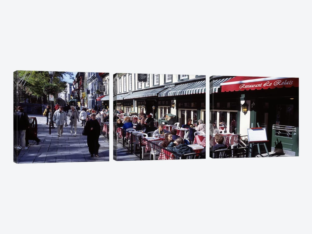 Street Scene Paris France by Panoramic Images 3-piece Art Print