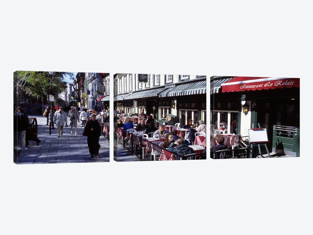 Street Scene Paris France by Panoramic Images 3-piece Art Print