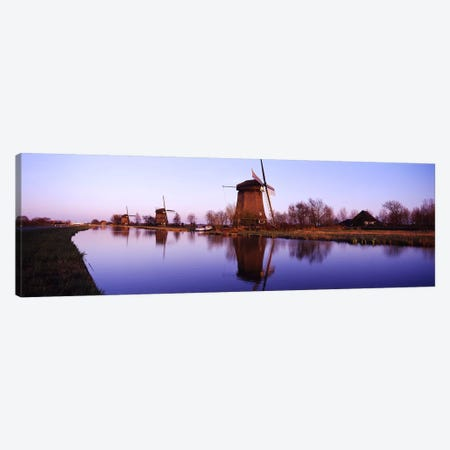 Windmills Schemerhorn The Netherlands Canvas Print #PIM2864} by Panoramic Images Canvas Wall Art