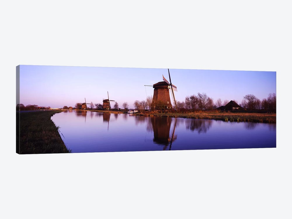 Windmills Schemerhorn The Netherlands 1-piece Canvas Art Print