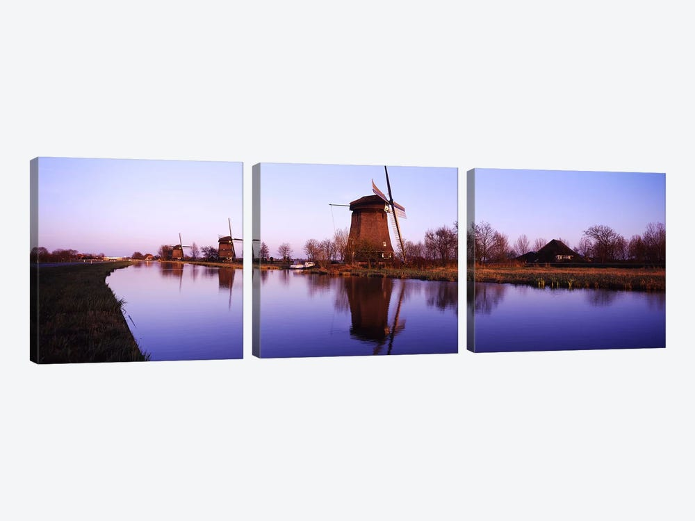 Windmills Schemerhorn The Netherlands 3-piece Canvas Art Print