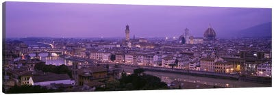 Cityscape At Twilight, Florence, Tuscany, Italy Canvas Art Print