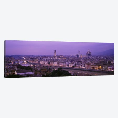 Cityscape At Twilight, Florence, Tuscany, Italy Canvas Print #PIM2867} by Panoramic Images Canvas Art