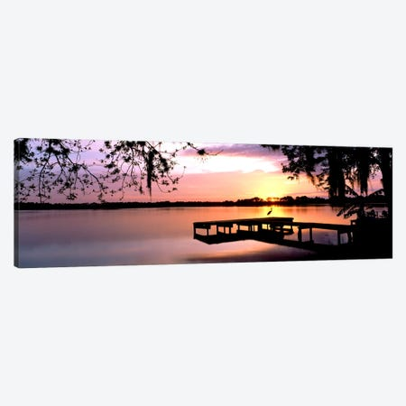 Sunrise Over Lake Whippoorwill, Orlando, Florida, USA Canvas Print #PIM286} by Panoramic Images Canvas Print