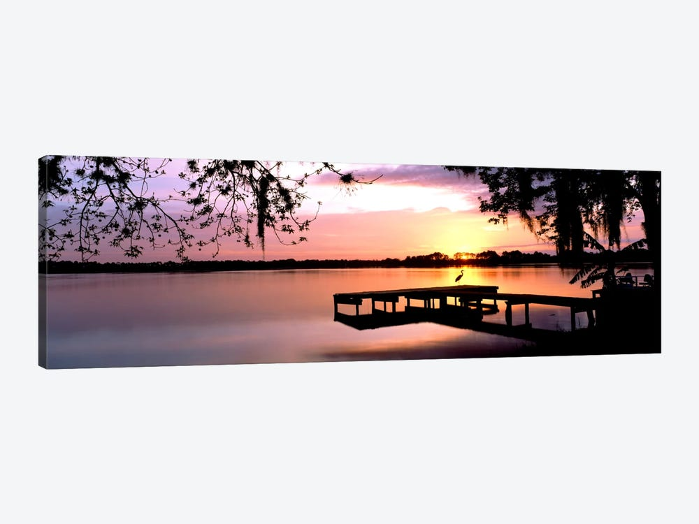 Sunrise Over Lake Whippoorwill, Orlando, Florida, USA by Panoramic Images 1-piece Canvas Art Print