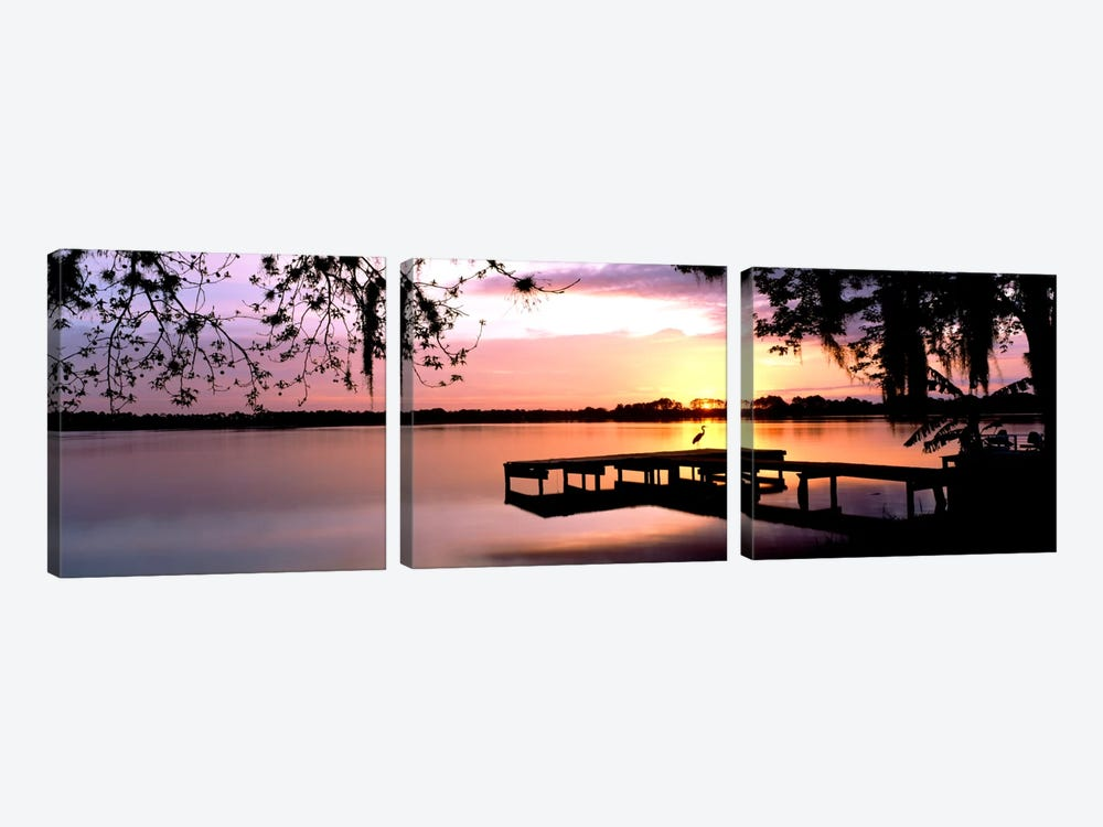 Sunrise Over Lake Whippoorwill, Orlando, Florida, USA by Panoramic Images 3-piece Canvas Print