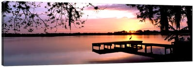 Sunrise Over Lake Whippoorwill, Orlando, Florida, USA Canvas Art Print
