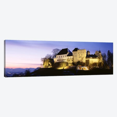 Lenzburg Castle At Night, Lenzburg, Aargau, Switzerland Canvas Print #PIM2873} by Panoramic Images Canvas Artwork