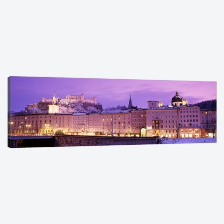 Night Salzburg Austria Canvas Print #PIM2879} by Panoramic Images Canvas Art