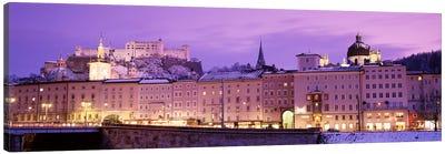 Night Salzburg Austria Canvas Print #PIM2879