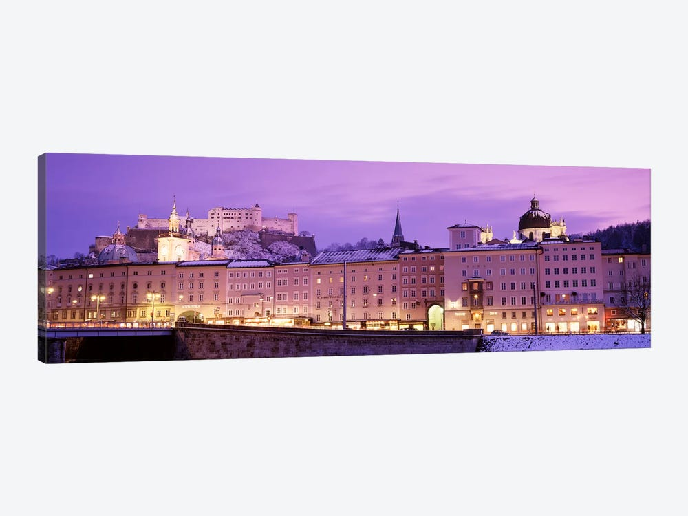 Night Salzburg Austria by Panoramic Images 1-piece Canvas Print