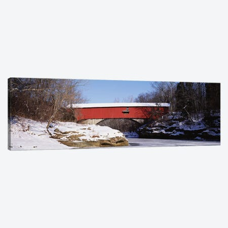 Narrows Covered Bridge Turkey Run State Park IN USA Canvas Print #PIM2884} by Panoramic Images Canvas Wall Art