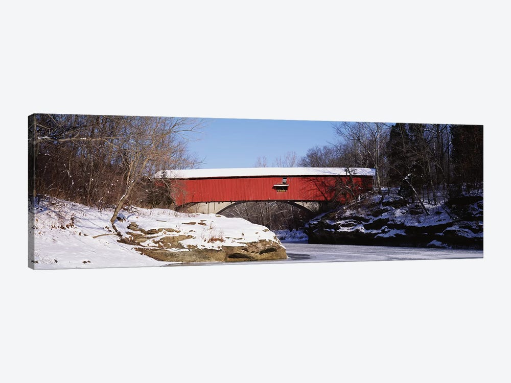 Narrows Covered Bridge Turkey Run State Park IN USA by Panoramic Images 1-piece Art Print