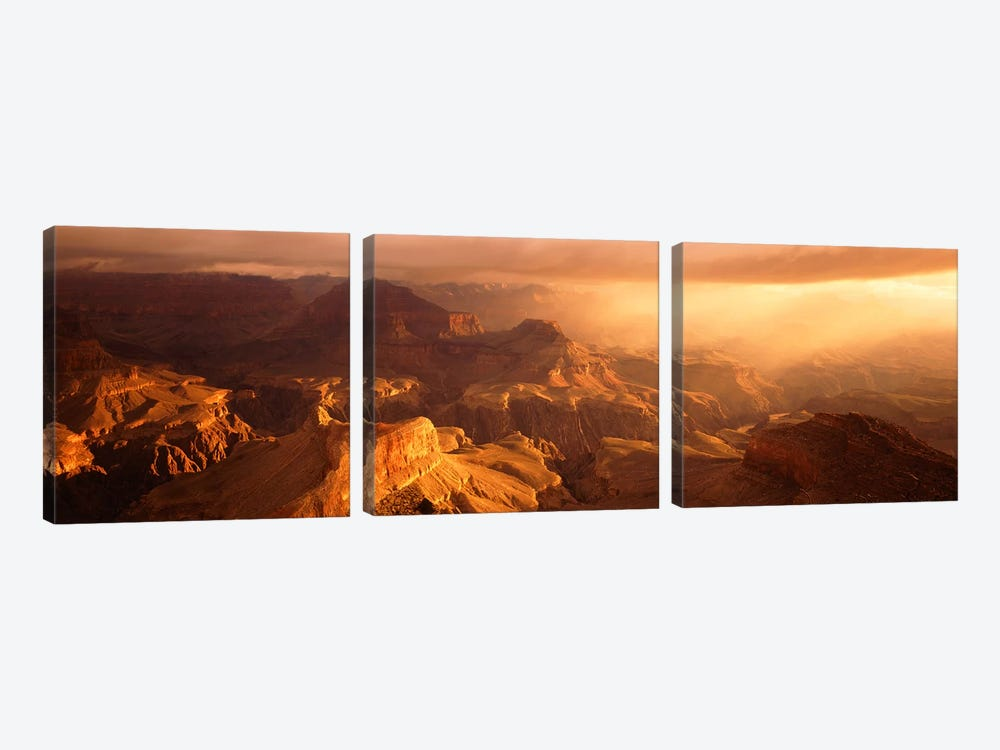 Sunrise View From Hopi Point Grand Canyon AZ by Panoramic Images 3-piece Art Print