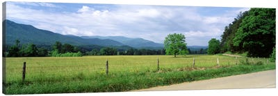 Valley Landscape, Cades Cove, Great Smoky Mountains National Park, Tennessee, USA Canvas Art Print