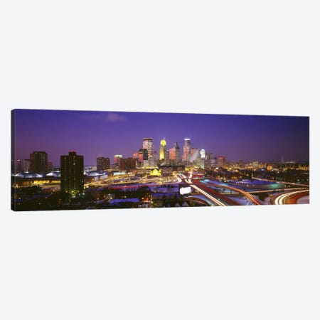 TwilightMinneapolis, MN, USA Canvas Print #PIM2890} by Panoramic Images Canvas Artwork