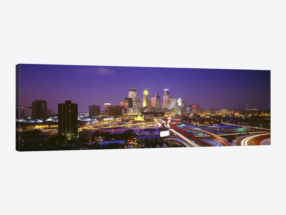 TwilightMinneapolis, MN, USA by Panoramic Images 1-piece Canvas Wall Art