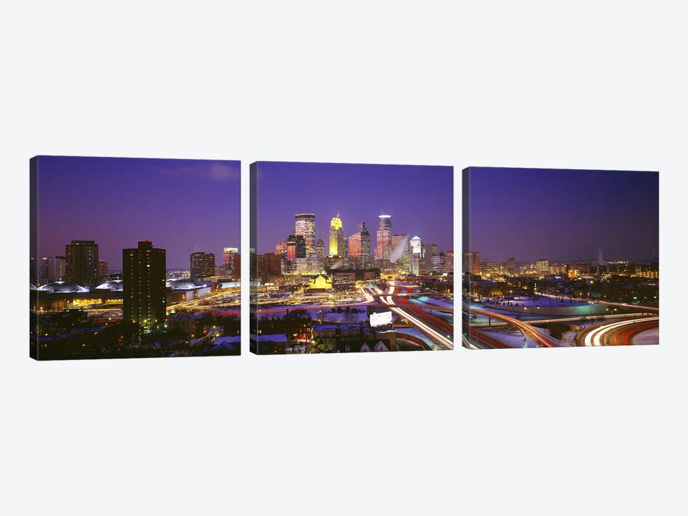 TwilightMinneapolis, MN, USA by Panoramic Images 3-piece Canvas Art