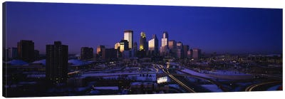 Skyscrapers at duskMinneapolis, Minnesota, USA Canvas Print #PIM2891