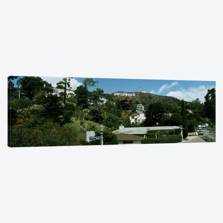 Low angle view of a hillHollywood Hills, City of Los Angeles, California, USA Canvas Print #PIM2896} by Panoramic Images Canvas Print