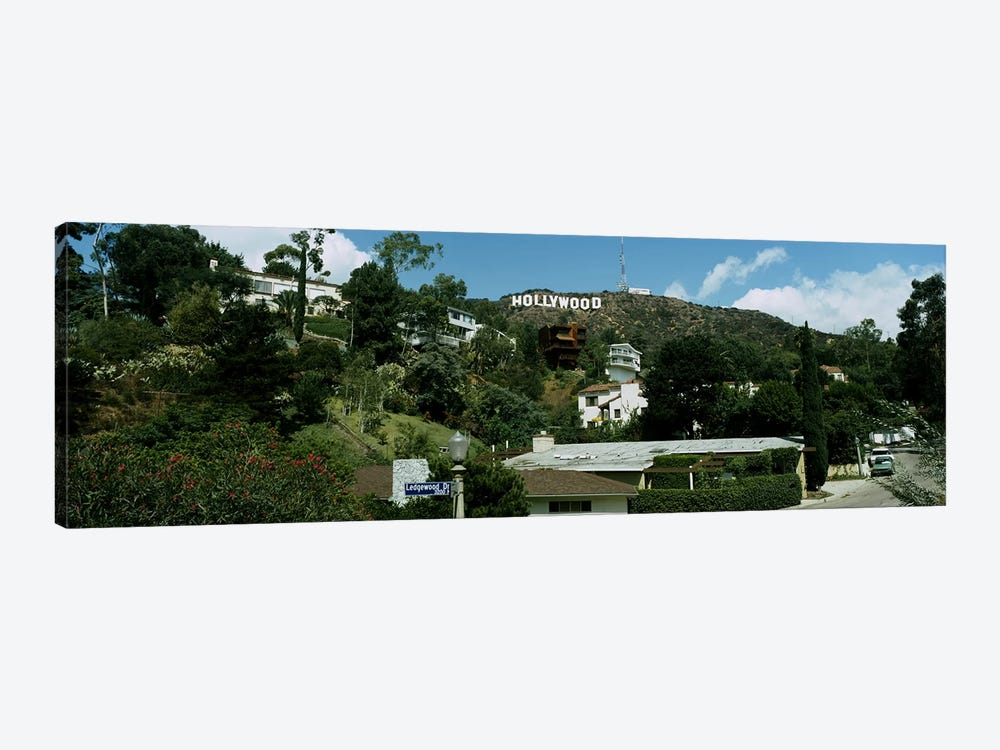 Low angle view of a hillHollywood Hills, City of Los Angeles, California, USA by Panoramic Images 1-piece Canvas Artwork