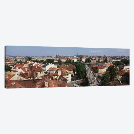 Charles Bridge Prague Czechoslovakia Canvas Print #PIM2899} by Panoramic Images Canvas Wall Art