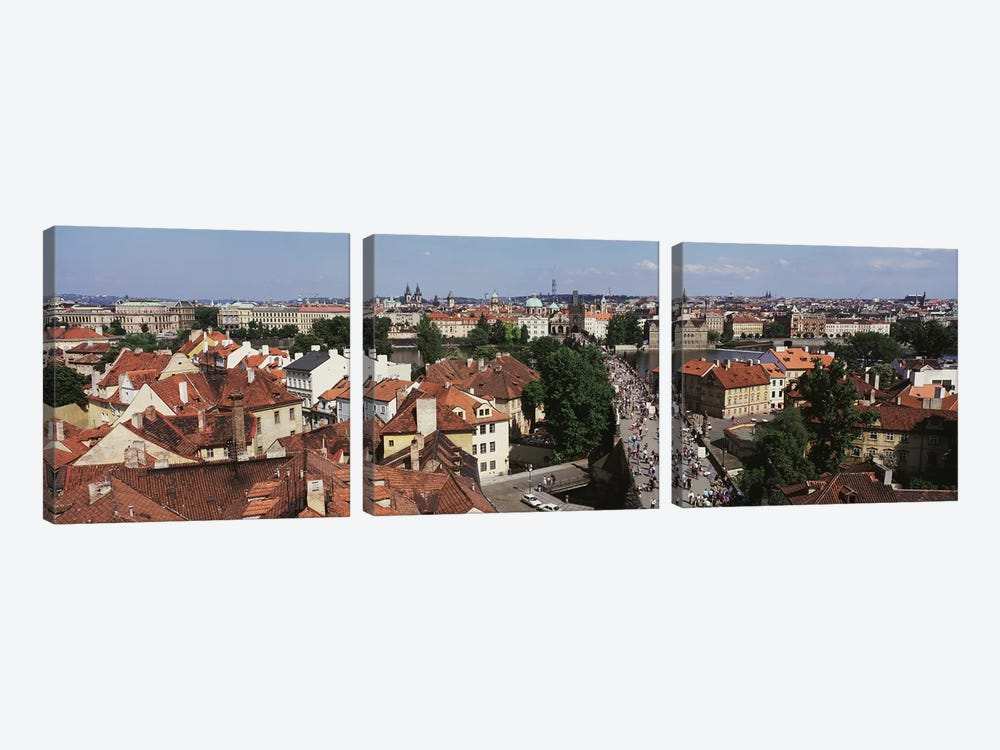 Charles Bridge Prague Czechoslovakia by Panoramic Images 3-piece Art Print